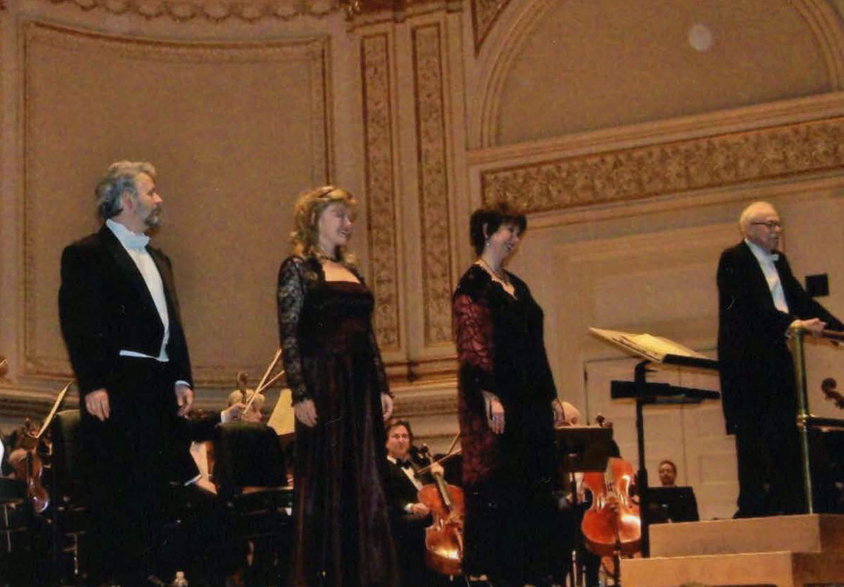In concert at Carnegie Hall